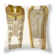 Case And Mummy In Its Cerements Throw Pillow