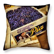 Case Of Sangiovese Grapes Throw Pillow