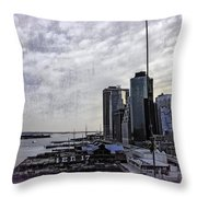 Case Of The Missing P Aka As Pier 17 Throw Pillow