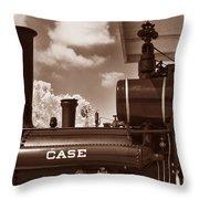 Case Steam Throw Pillow
