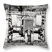 Case Tractor Throw Pillow by Scott Pellegrin