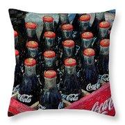 Classic Case Of Coca Cola Throw Pillow