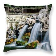 Caserta Palace Fountain 1 Throw Pillow