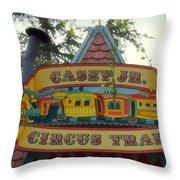 Casey Jr Circus Train Fantasyland Signage Disneyland Throw Pillow