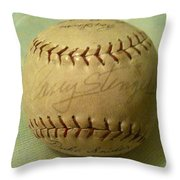 Casey Stengel Baseball Autograph Throw Pillow