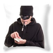 Cash Card Throw Pillow