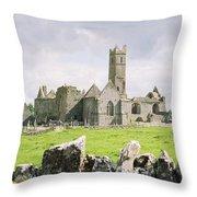 Cashel Abbey Throw Pillow
