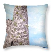 Cashel Tower Ireland Throw Pillow