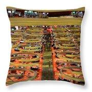 Casino Floor Marina Bay Sands Singapore Throw Pillow