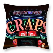 Casino Time Throw Pillow