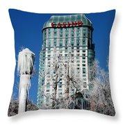 Casino Under Ice Throw Pillow