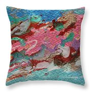 Caspian Sea Abstract Painting Throw Pillow by Julia Apostolova