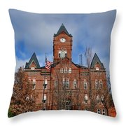 Cass County Courthouse Throw Pillow
