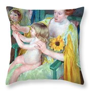 Cassatt's Mother And Child Throw Pillow