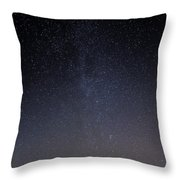 Cassiopeia And Andromeda Galaxy 01 Throw Pillow
