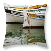 Cassis Calanques Throw Pillow