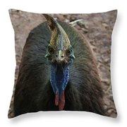 Cassowary  Throw Pillow
