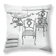 Cast Aluminum Furniture By Molla Throw Pillow