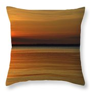 Cast Away - Young Child Fishing From A Pier On The Indian River Bay As The Sun Sets Across The Water Throw Pillow