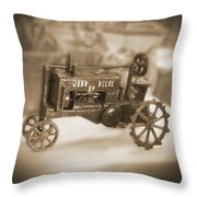 Cast Iron Toys Throw Pillow