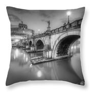 Castel Sant' Angelo Bw Throw Pillow