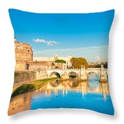 Castel Sant'angelo - Rome Throw Pillow