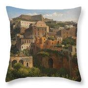 Castel Sant'elmo From Chiaia. Naples Throw Pillow