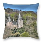 Castell Coch Cardiff Painterly Throw Pillow