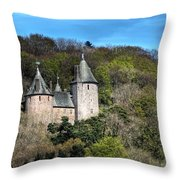 Castell Coch Cardiff Throw Pillow