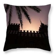 Castell Dels Tres Dragons ... Throw Pillow