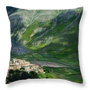 Castelluccio Umbria Throw Pillow