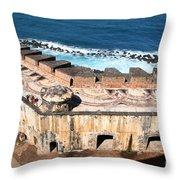 Castillo De San Cristobal San Juan Puerto Rico Throw Pillow