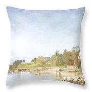 Castine Harbor Maine Throw Pillow