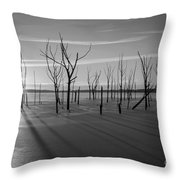 Casting Shadows Bw Throw Pillow