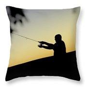 Casting Silhouette Throw Pillow