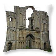 Castle Acre Abbey Throw Pillow