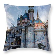 Castle And Clouds Throw Pillow