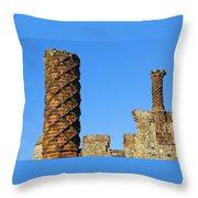 Castle Brickwork Throw Pillow