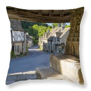 Castle Combe - View Throw Pillow