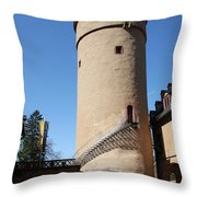 Castle Courtyard Throw Pillow
