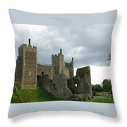 Castle Curtain Wall Throw Pillow