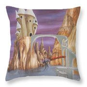 Castle Dragonfly Throw Pillow