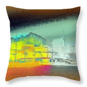 When You Dream Of A Sailship And An Old Castle  Throw Pillow