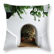 Castle Entrance Throw Pillow