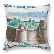 Castle Fougeres Throw Pillow