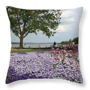 Castle Garden Schwerin - Germany Throw Pillow