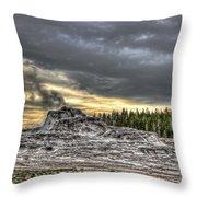 Castle Geyser - Yellowstone Throw Pillow