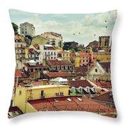 Castle Hill Neighborhood Throw Pillow