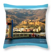 Castle In Almeria Spain Throw Pillow