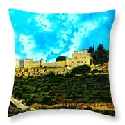 Castle In The Hot Summer Sun Throw Pillow